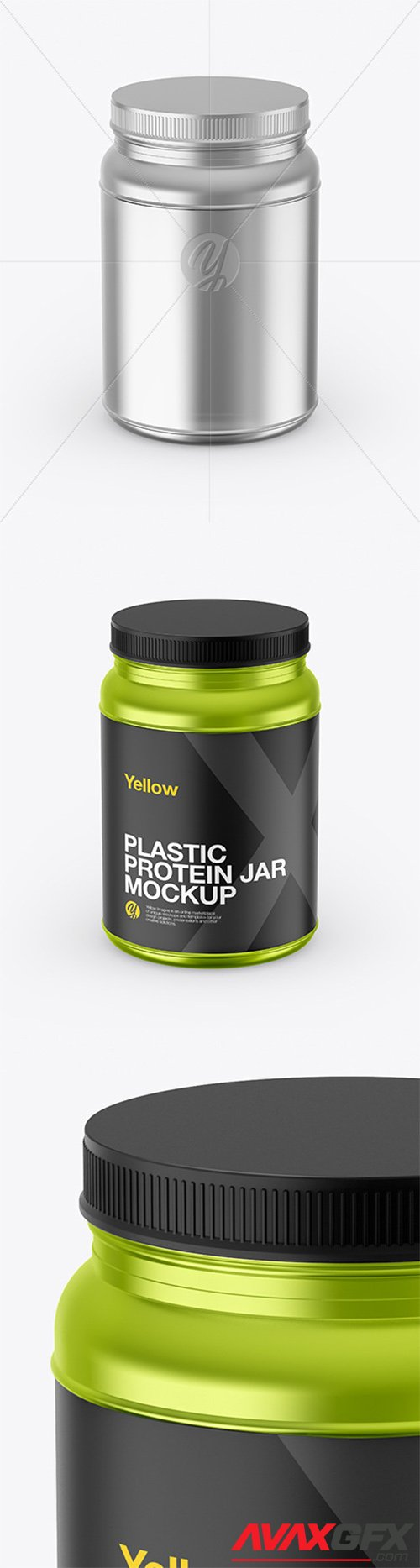 Metallized Protein Jar Mockup 65433