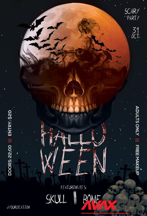 Halloween Party  PSD Flyer Templates