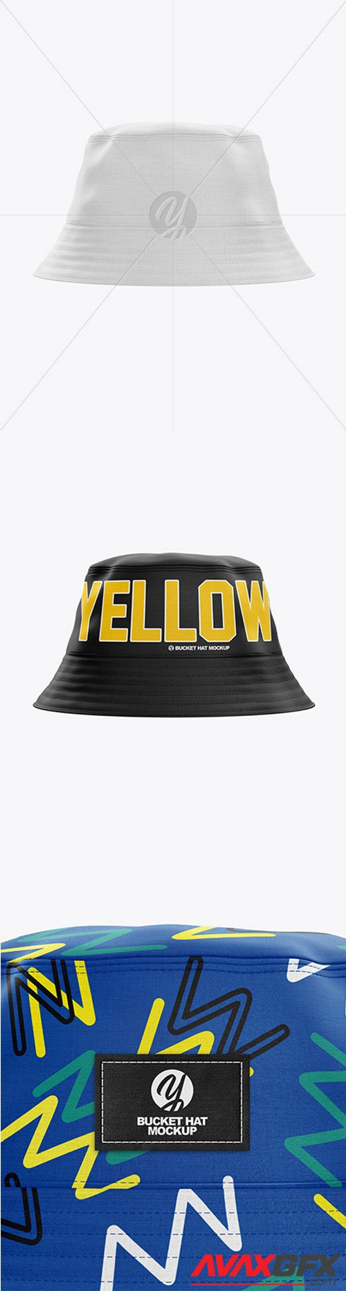 Bucket Hat Mockup - Front View 61476