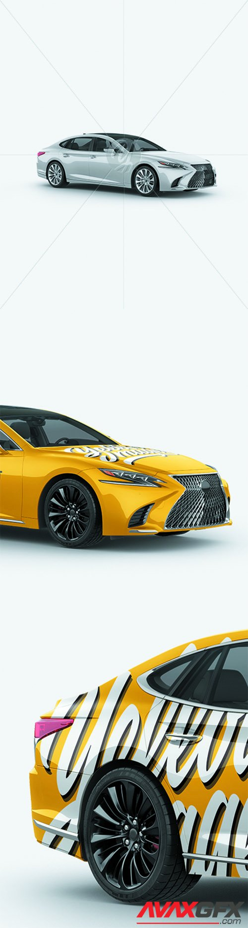 Lexus LS 500 Mockup - Half Side View 27707