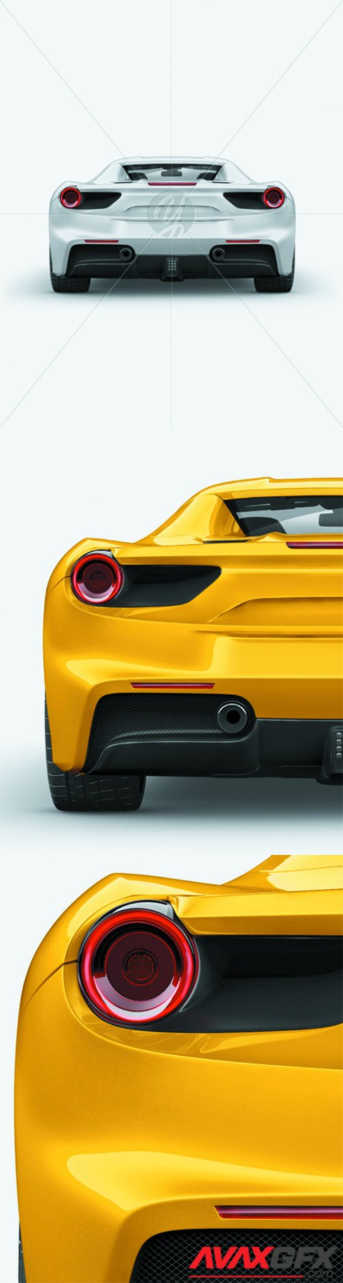 Ferrari 488 Mockup - Back view 26029