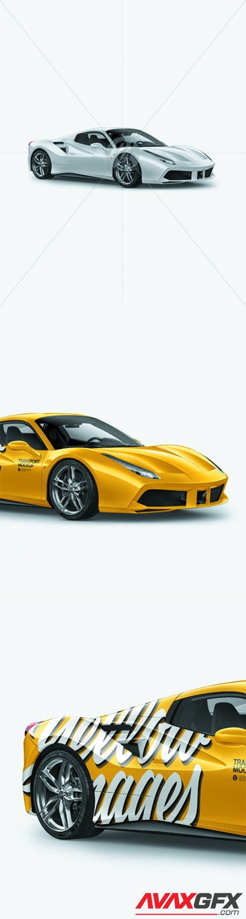 Ferrari 488 Mockup - Half Side View 25751