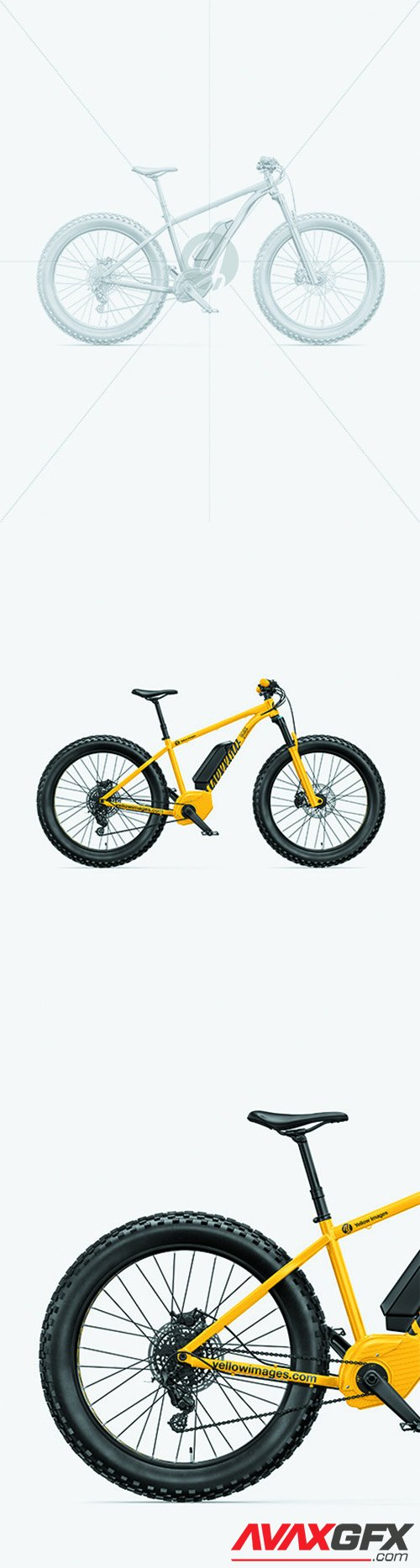 Fat Bike Mockup - Right Side View 68684