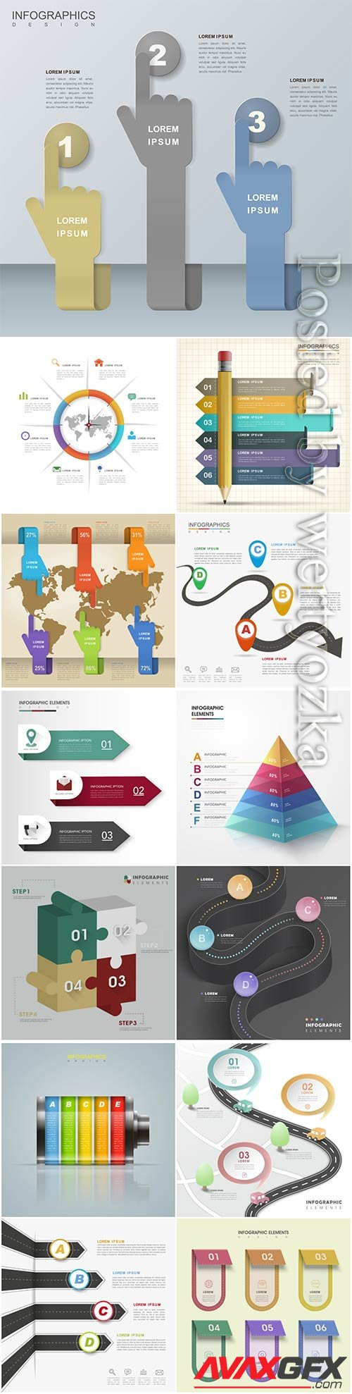 Infographic design elements premium vector
