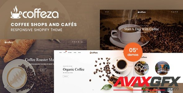 ThemeForest - Coffeza v1.0.0 - Coffee Shops and Cafes Responsive Shopify Theme - 29274916