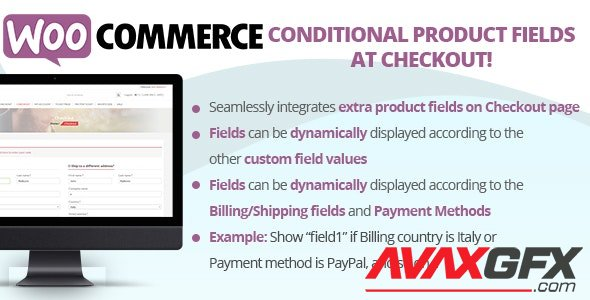 CodeCanyon - WooCommerce Conditional Product Fields at Checkout v5.1 - 22556253 - NULLED
