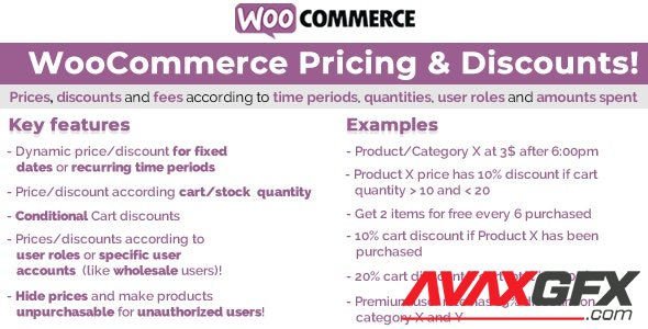 CodeCanyon - WooCommerce Pricing & Discounts! v13.1 - 14679278 - NULLED