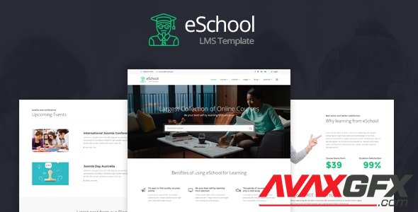 ThemeForest - eSchool v1.0 - Education & Joomla LMS Template (Update: 14 October 20) - 19533899