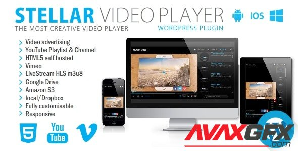 CodeCanyon - Stellar Video Player v2.2 - Wordpress plugin - 20939246