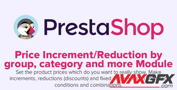 Price Increment/Reduction by group category and more - PrestaShop Module
