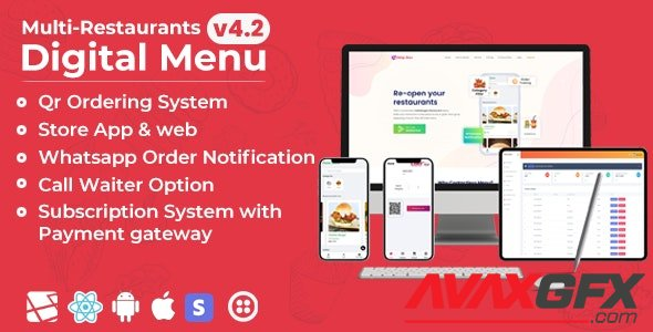 CodeCanyon - Chef v5.5.4 - Multi-restaurant Saas - Contact less Digital Menu Admin Panel with - React Native App - 27975356