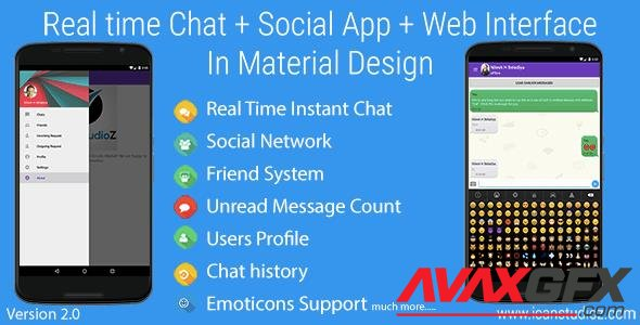 CodeCanyon - Real Time Chat + Social System + Web Interface v2.2 - 10716754