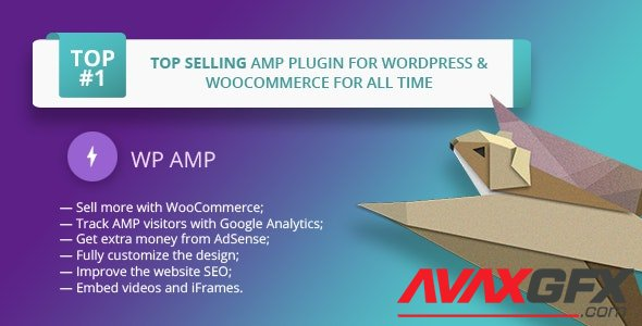 CodeCanyon - WP AMP v9.3.17 - Accelerated Mobile Pages for WordPress and WooCommerce - 16278608