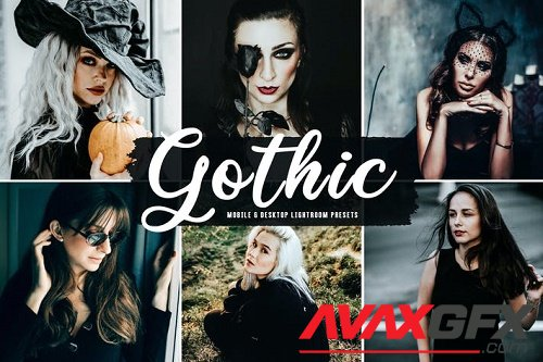 Gothic Mobile & Desktop Lightroom Presets