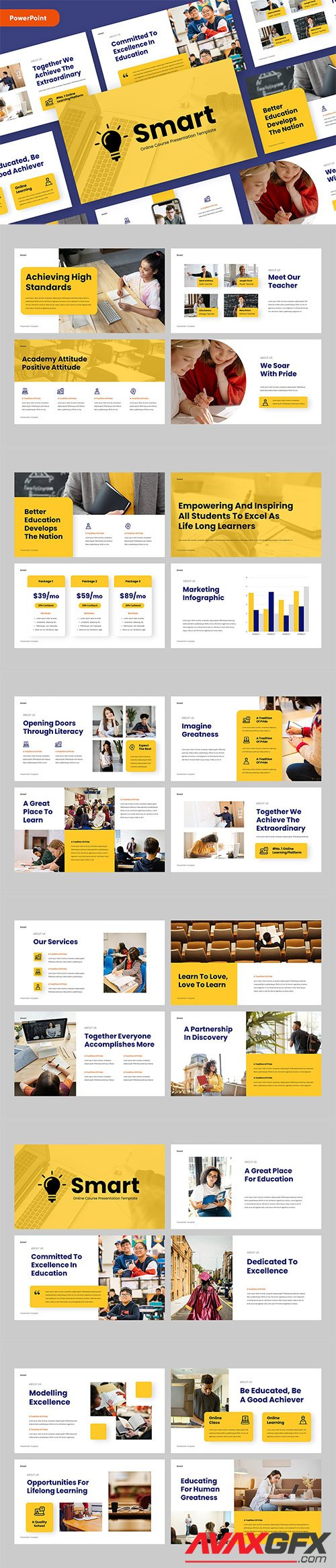 SMART - Education PowerPoint, Keynote and Google Slides Template