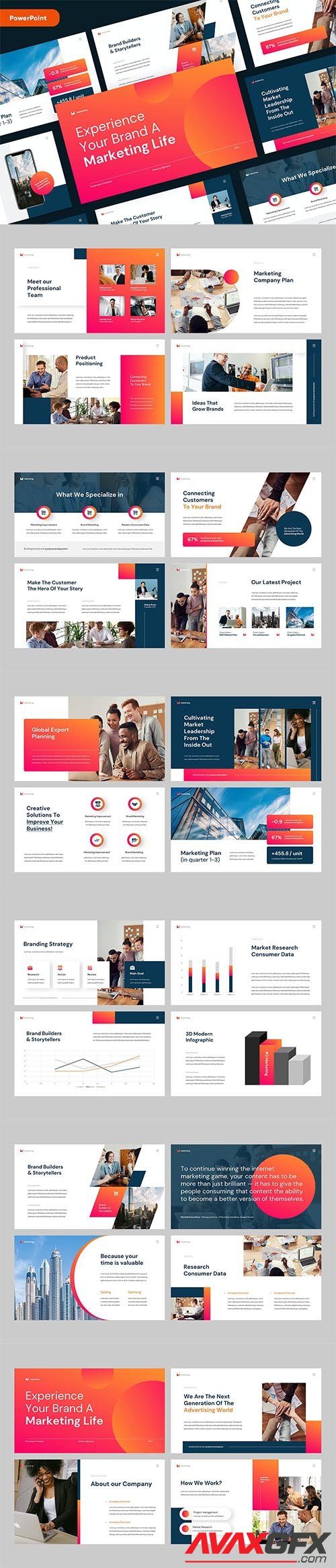 Business Marketing PowerPoint, Keynote and Google Slides Template