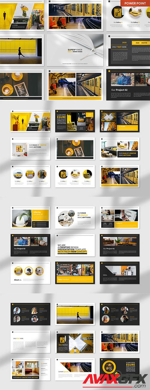 SuperPower PowerPoint, Keynote and Google Slides Template