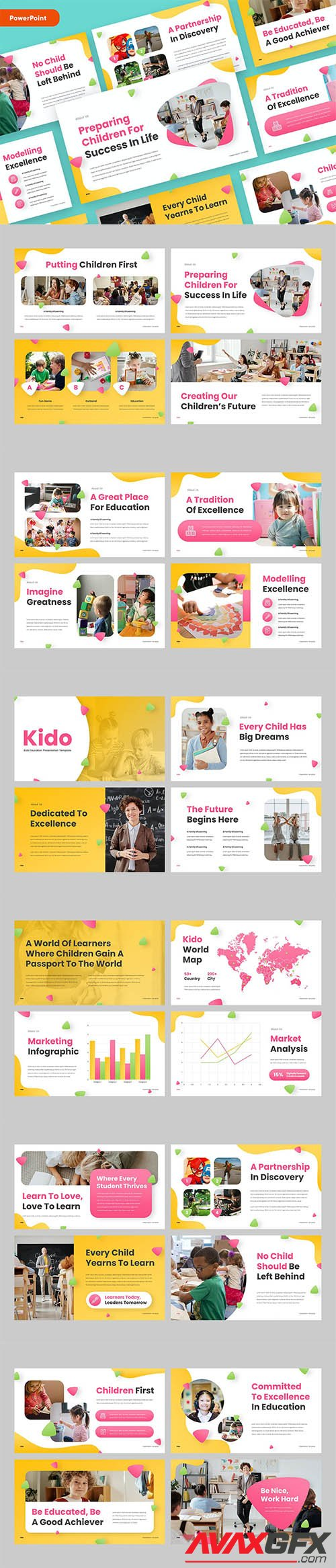 KIDO - Education Kids PowerPoint, Keynote and Google Slides Template