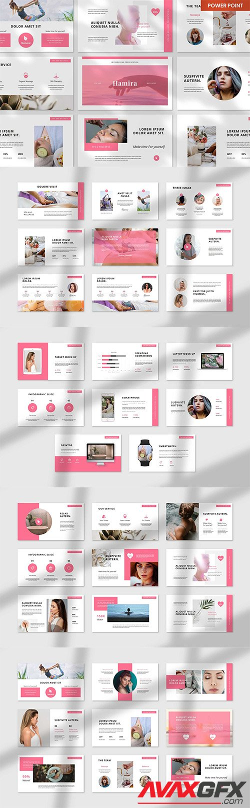 Hamira Spa & Wellness PowerPoint, Keynote and Google Slides Template