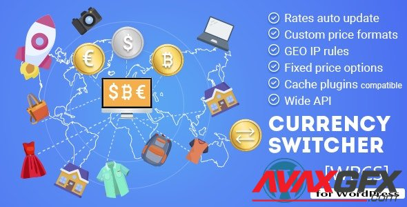 CodeCanyon - WPCS v2.1.6 - WordPress Currency Switcher - 17450674