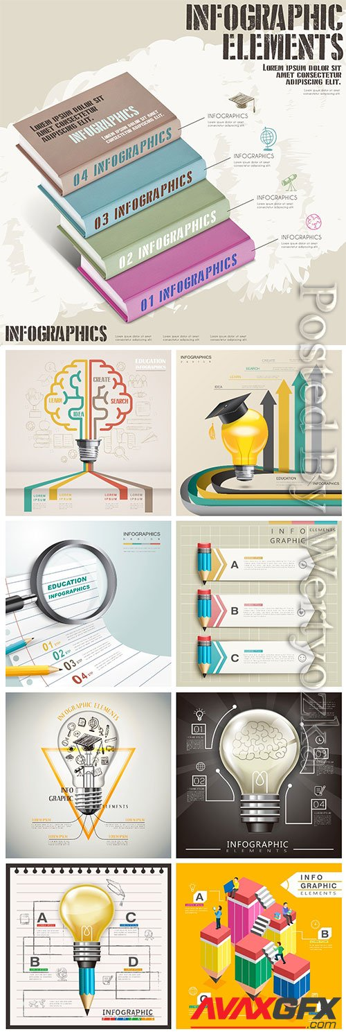 Infographic template concept vector design vol 4