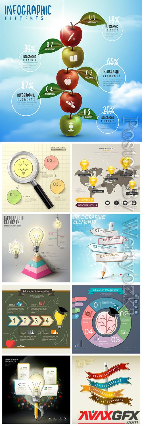 Infographic template concept vector design vol 7