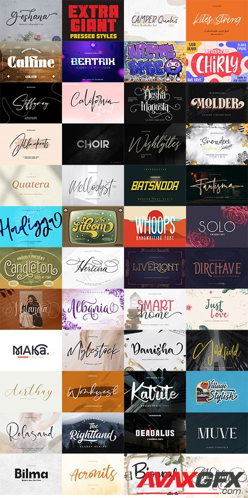 48 Awesome Fonts Bundle 1