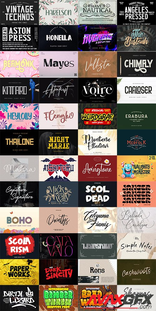 48 Awesome Fonts Bundle 2